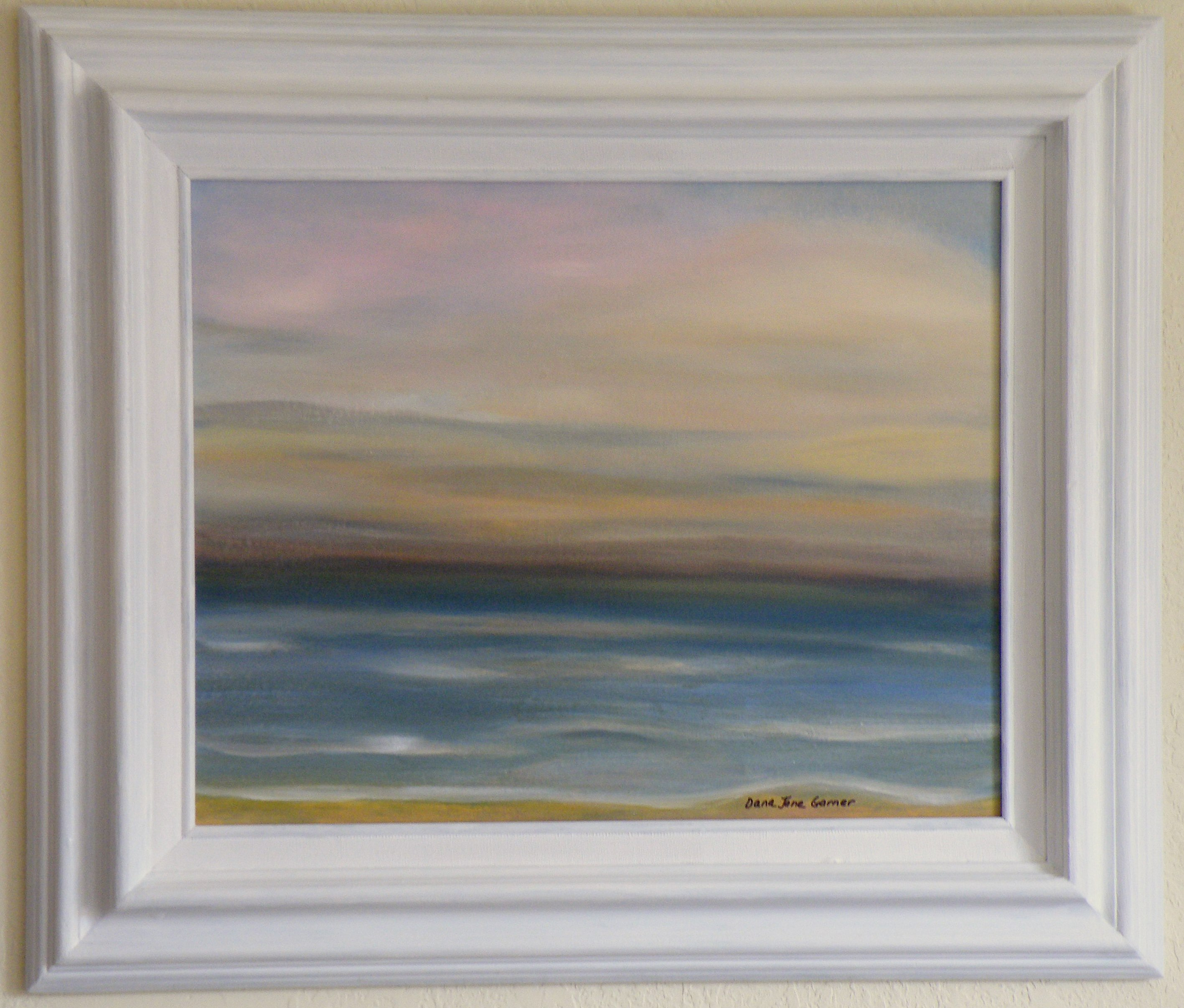 Calming Lake 16X20 Oil on Canvas Board Large Frame – Dana Jane Designs