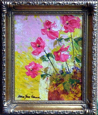Afternoon Blooms Acrylic on Canvas 8X10 Framed