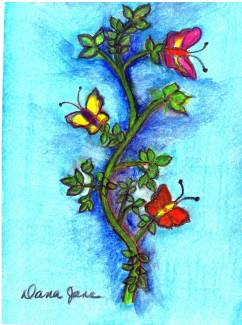 Friends 3x5 Watercolor pencil