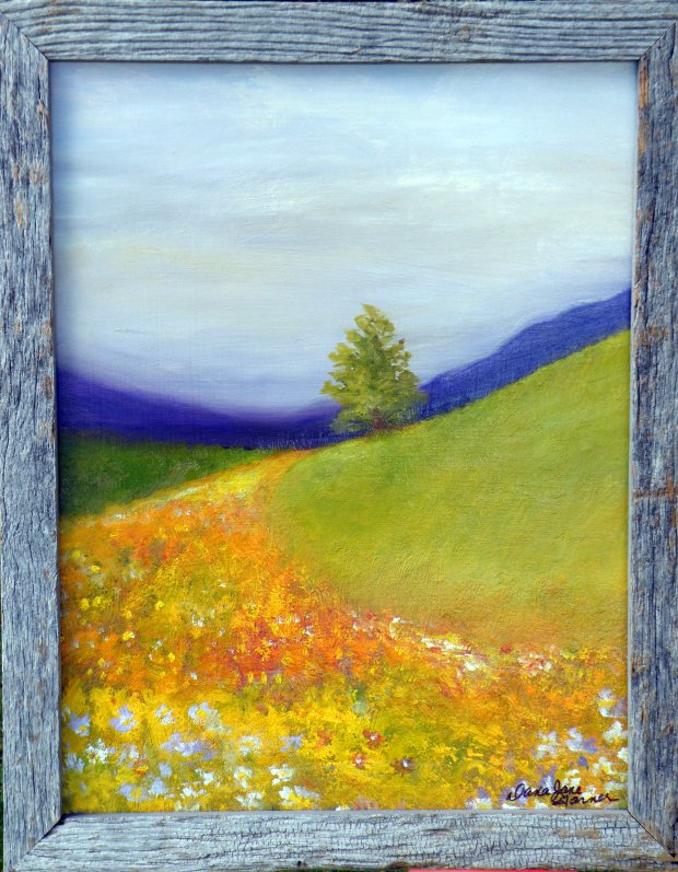 Road of Flowers 14x18 oil