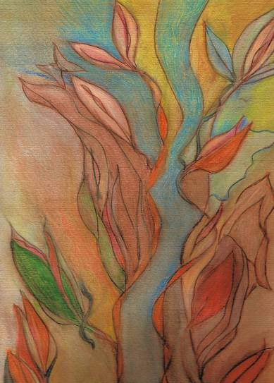 Tranquility 5X7 Notecard Watercolor pencil