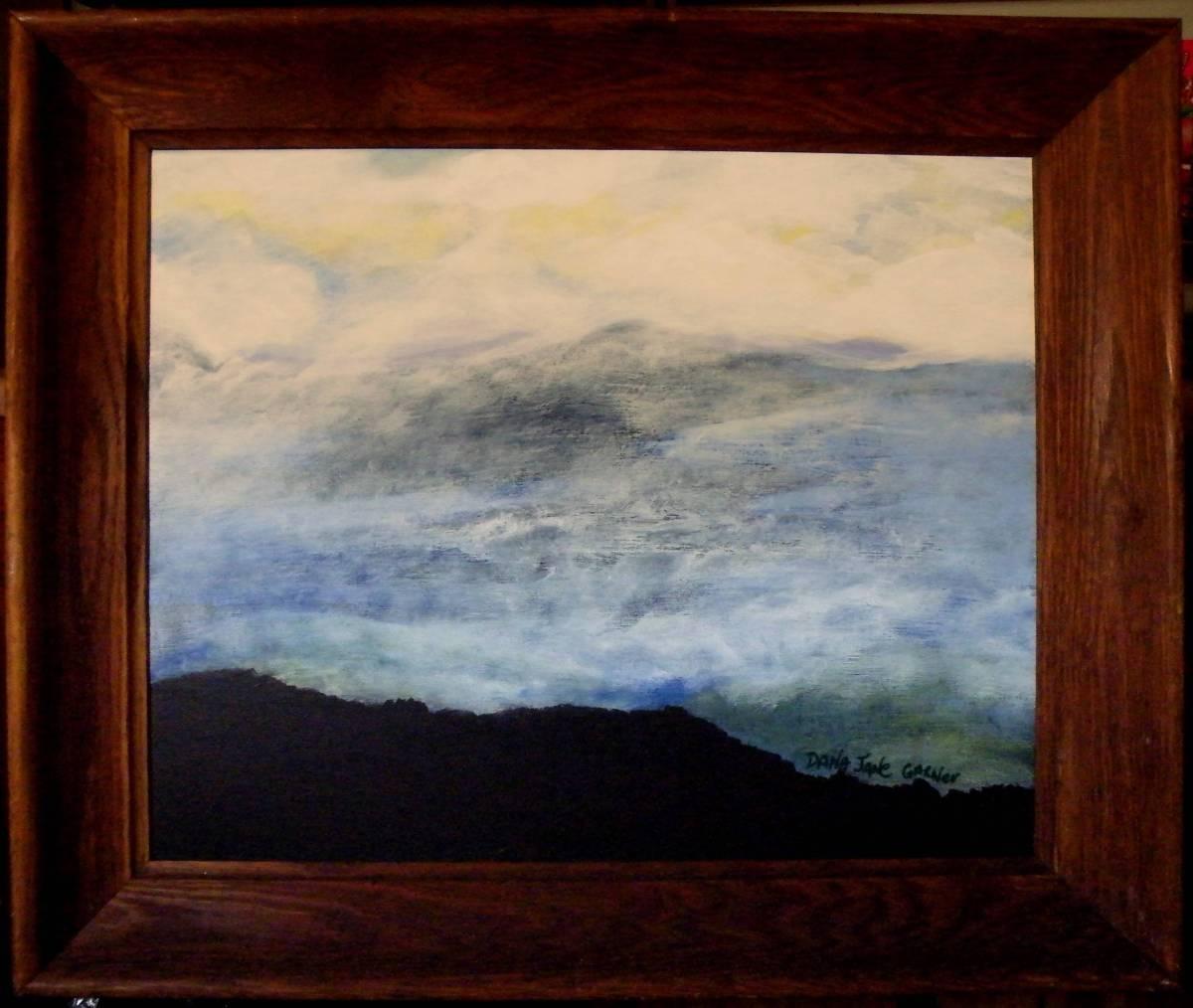 Smoky Mountain / Skyscape 16X20 Framed Acrylic on Canvas $695