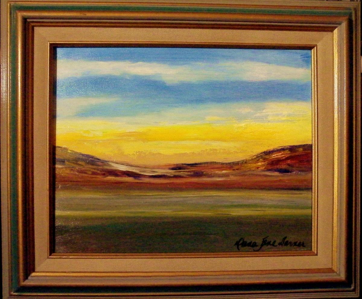 Yellow Sky 11X14 Framed Oil on Canvas