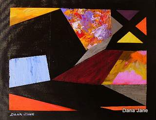 Orgami Abstract 14X18 Acrylic on Canvas Board