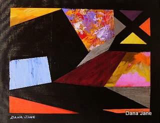 Orgami Abstract 14X18 Acrylic on Canvas Board